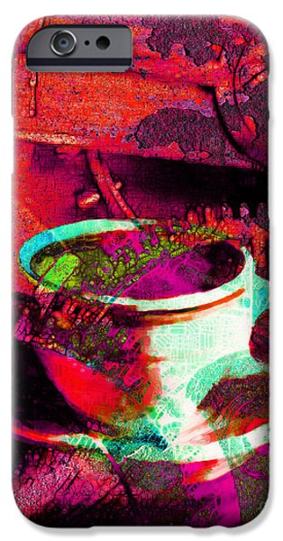 Nothing Like A Hot Cuppa Joe In The Morning To Get The Old Wheels Turning 20130718m43 iPhone Case by Wingsdomain Art and Photography