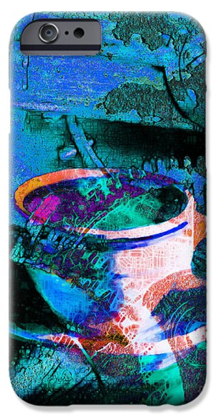Clock Shop iPhone Cases - Nothing Like A Hot Cuppa Joe In The Morning To Get The Old Wheels Turning 20130718p168 iPhone Case by Wingsdomain Art and Photography