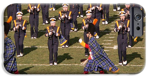 Universities Photographs iPhone Cases - Notre Dame Band iPhone Case by David Bearden