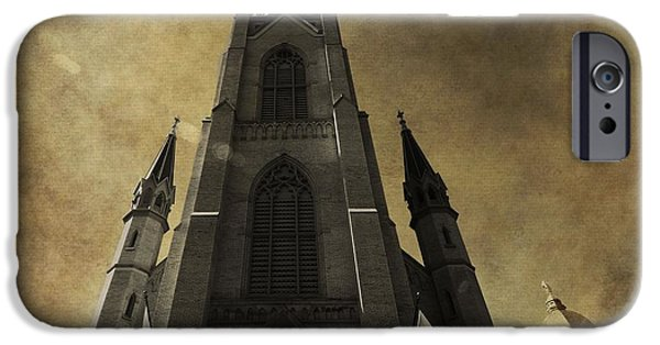 Indiana Flowers iPhone Cases - Notre Dame Basilica iPhone Case by Dan Sproul