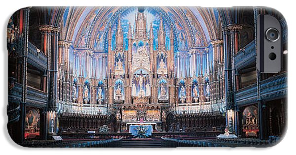 Balcony iPhone Cases - Notre-dame Basilica Montreal Quebec iPhone Case by Panoramic Images
