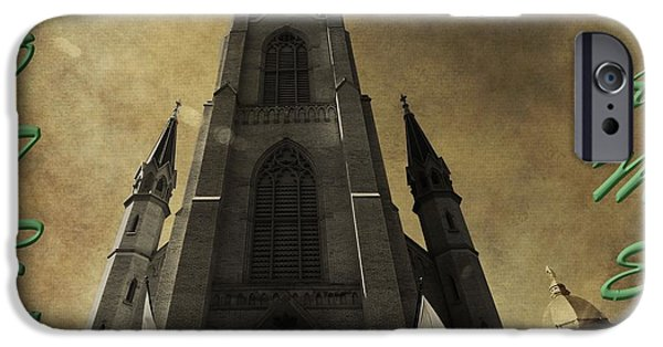 Indiana Flowers iPhone Cases - Notre Dame iPhone Case by Dan Sproul