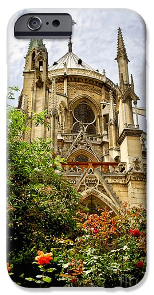 Notre Dame Cathedral iPhone Cases - Notre Dame de Paris iPhone Case by Elena Elisseeva