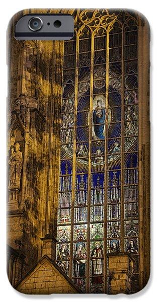 Eerie iPhone Cases - Notre Dame du Sablon iPhone Case by Joan Carroll