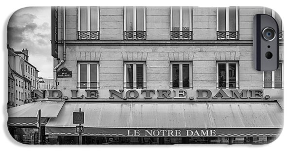Waiter Photographs iPhone Cases - Notre Dame Hotel iPhone Case by Georgia Fowler