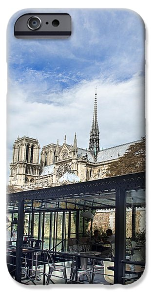 Boat Cruise iPhone Cases - Notre Dame iPhone Case by Ivan Vukelic
