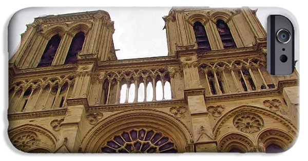 Notre Dame Cathedral iPhone Cases - Notre Dame iPhone Case by Jenny Armitage
