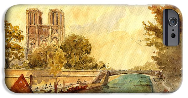 Notre Dame Cathedral iPhone Cases - Notre Dame Paris. iPhone Case by Juan  Bosco