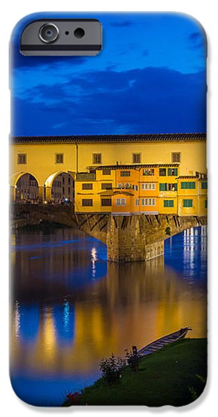 Notte a Ponte Vecchio iPhone Case by Inge Johnsson