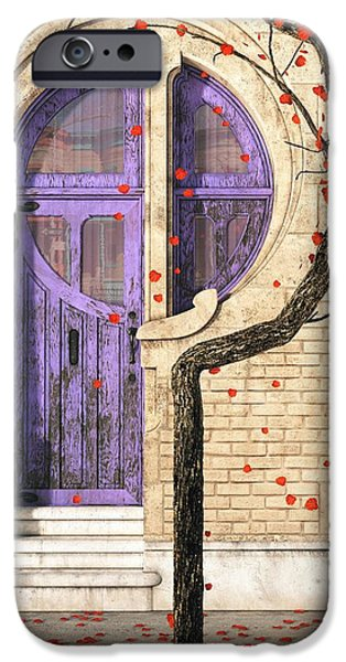 Facade Digital iPhone Cases - Nouveau iPhone Case by Cynthia Decker