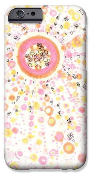 Disc Drawings iPhone Cases - Nova iPhone Case by Regina Valluzzi