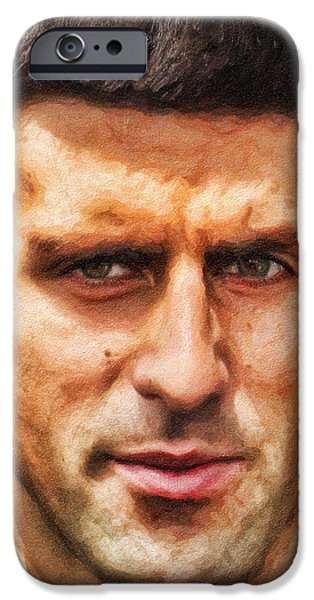 Novak Djokovic iPhone Case by Nishanth Gopinathan