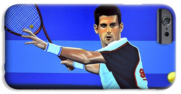Atp World Tour iPhone Cases - Novak Djokovic iPhone Case by Paul  Meijering