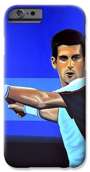 Novak Djokovic iPhone Case by Paul  Meijering