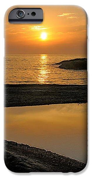 November sunrise II - Lake Superior iPhone Case by Sandra Updyke