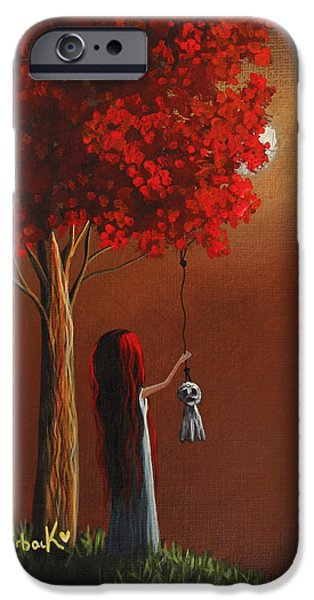 Recently Sold -  - Tree Art Print iPhone Cases - Now She Wont Be Alone 3 Original Artwork iPhone Case by Shawna Erback