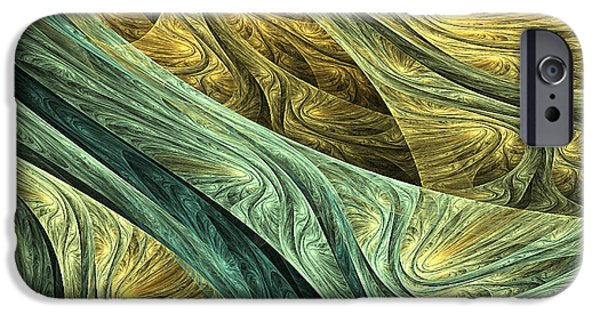 Green And Yellow Abstract iPhone Cases - Nowhere iPhone Case by Lourry Legarde
