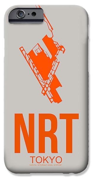 Japan Town iPhone Cases - NRT Tokyo Airport 1 iPhone Case by Naxart Studio