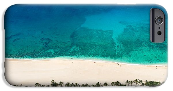 Beach iPhone Cases - Pipeline Reef from Above iPhone Case by Sean Davey