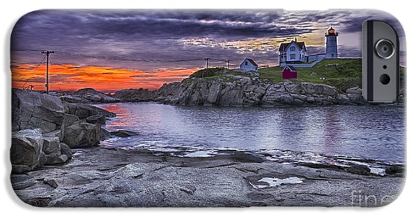 Nubble Lighthouse iPhone Cases - Nubble lighthouse maine iPhone Case by Steven Ralser