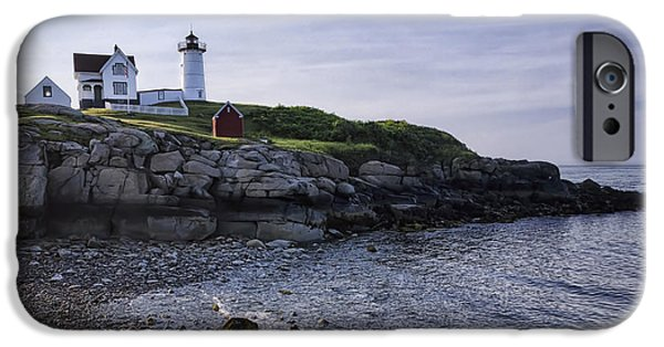 Cape Neddick Lighthouse iPhone Cases - Nubble Dawn iPhone Case by Joan Carroll