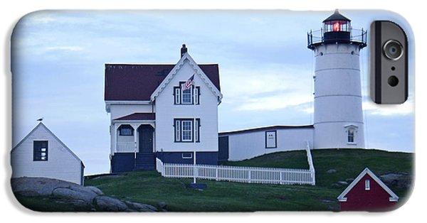 Cape Neddick Lighthouse Digital Art iPhone Cases - York Beach Maine - Cape Neddick Lighthouse iPhone Case by James Turnbull