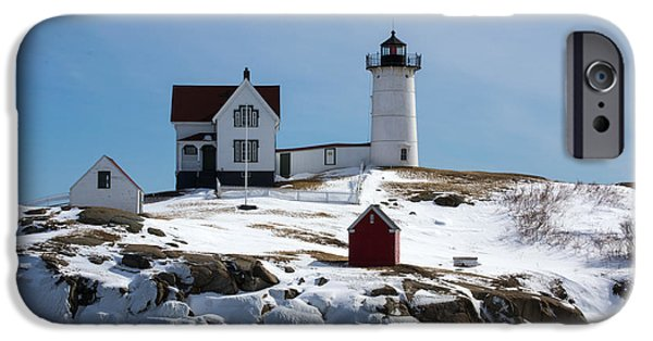 Nubble Lighthouse iPhone Cases - Nubble Light 2 iPhone Case by Kevin Fortier