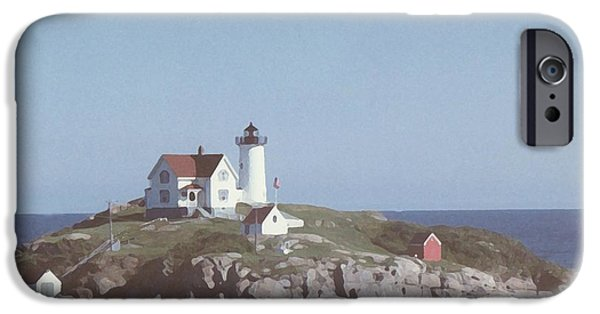 Nubble Lighthouse iPhone Cases - Nubble Light 2 iPhone Case by Lin Grosvenor