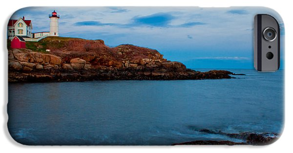 Cape Neddick Lighthouse iPhone Cases - Nubble Light at Cape Neddick Maine iPhone Case by John McGraw