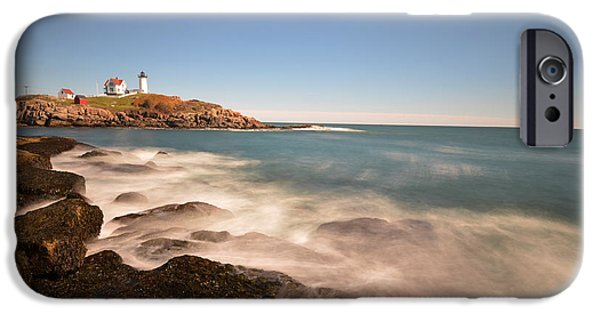 Nubble Lighthouse iPhone Cases - Nubble Light in York ME Cape Neddick iPhone Case by Toby McGuire