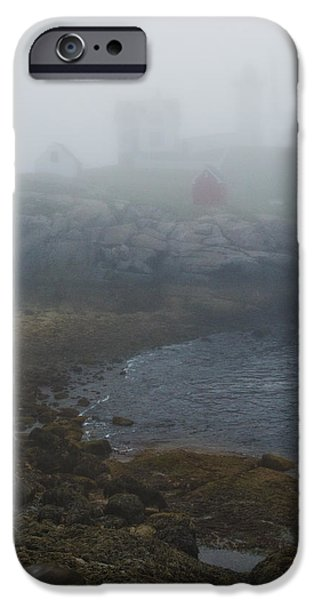 Nubble Lighthouse iPhone Cases - Nubble Light iPhone Case by Joseph Smith
