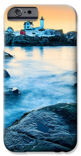 Cape Neddick Lighthouse iPhone Cases - Nubble Light iPhone Case by Thomas Schoeller