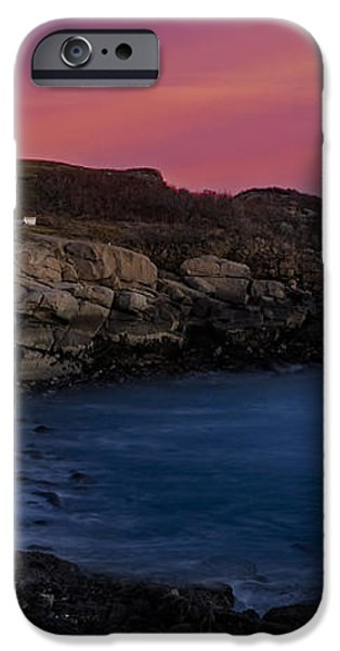 Nubble Lighthouse At Sunset iPhone Case by Susan Candelario
