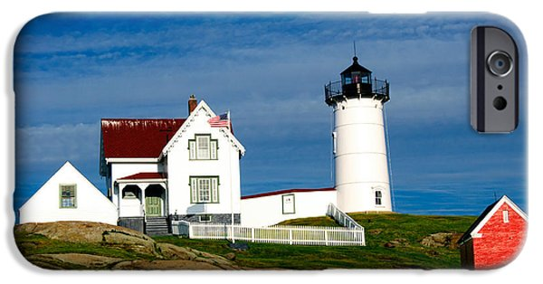Nubble Lighthouse iPhone Cases - Nubble Lighthouse iPhone Case by Charles Dobbs