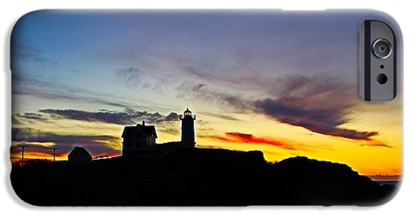 Nubble Lighthouse iPhone Cases - Nubble Lighthouse II iPhone Case by Lindsay Gabbert