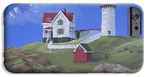 Nubble Lighthouse iPhone Cases - Nubble Lighthouse iPhone Case by Jerry McElroy