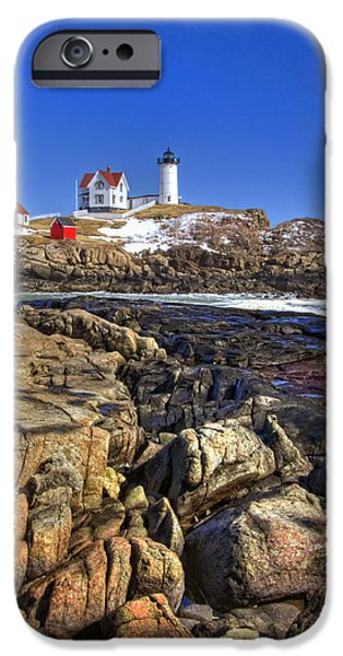 Nubble Lighthouse iPhone Case by Joann Vitali