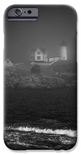 Cape Neddick Lighthouse iPhone Cases - Nubble Lighthouse iPhone Case by Joseph Smith