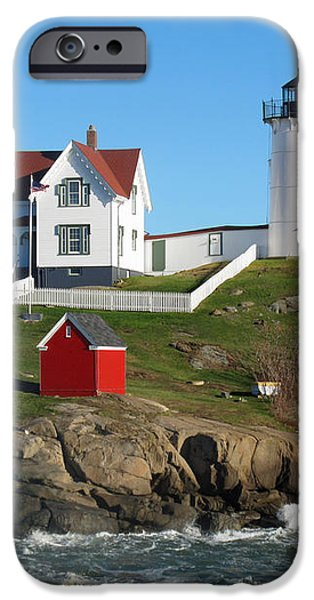Nubble Lighthouse One iPhone Case by Barbara McDevitt