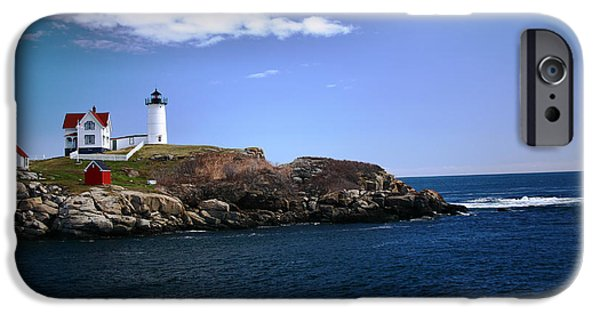 Nubble Lighthouse iPhone Cases - Nubble Lighthouse iPhone Case by Patricia Betts
