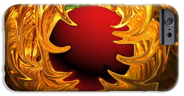 Abstract Digital Photographs iPhone Cases - Nucleous iPhone Case by Cheryl Young