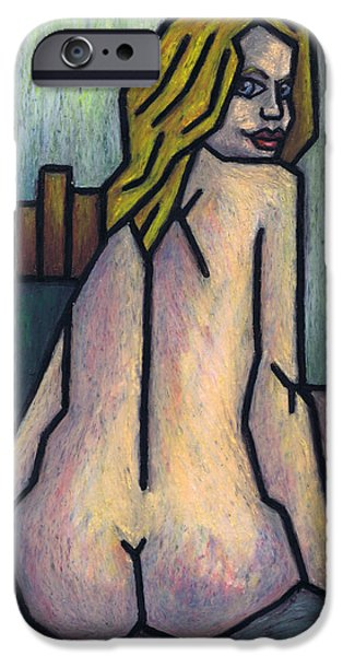 Fine Abstract Pastels iPhone Cases - Back Rub? iPhone Case by Kamil Swiatek