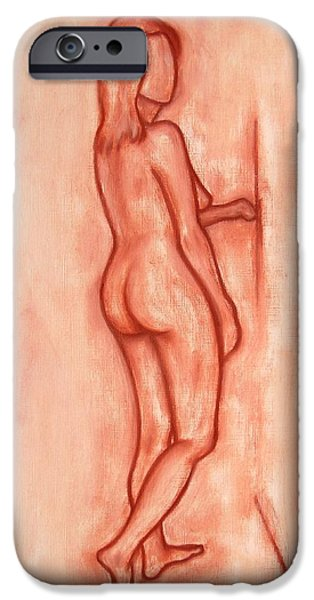 Ipad Design iPhone Cases - Nude 1 iPhone Case by Patrick J Murphy