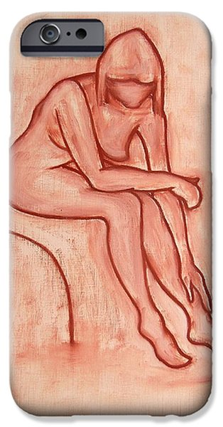 Ipad Design iPhone Cases - Nude 45 iPhone Case by Patrick J Murphy