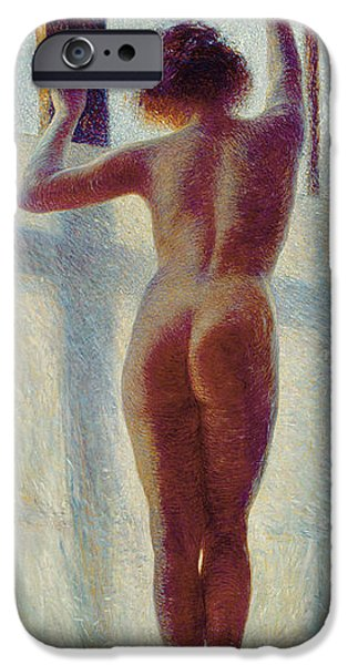 Neo iPhone Cases - Nude At The Window, 1905 iPhone Case by Pietro Mengarini