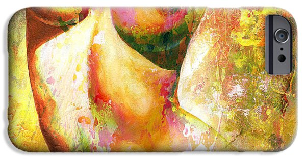 Figures iPhone Cases - Nude details - Digital vibrant color version iPhone Case by Emerico Imre Toth