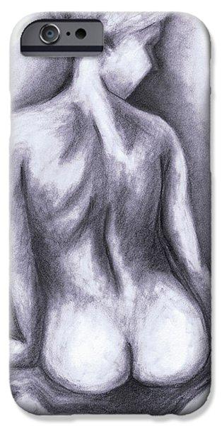 Nude Drawing 01 iPhone Case by Kamil Swiatek