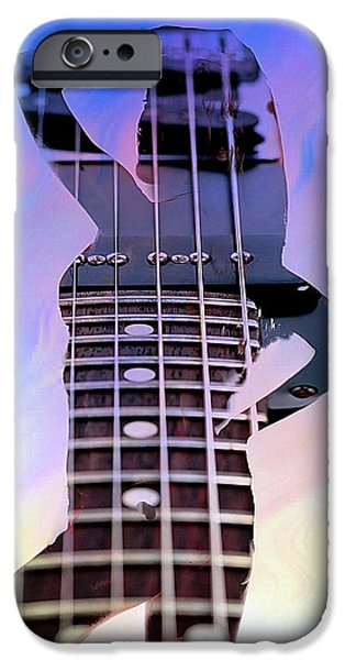 Bathing Mixed Media iPhone Cases - Nude Guitar iPhone Case by M and L Creations
