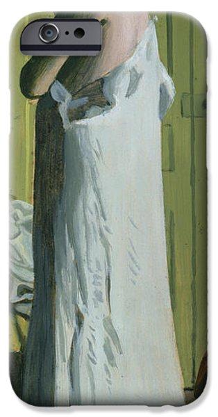 Bathroom Prints iPhone Cases - Nude in an Interior iPhone Case by Felix Edouard Vallotton