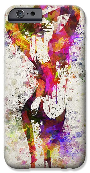 Nudes Digital Art iPhone Cases - Nude in Color iPhone Case by Aged Pixel